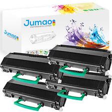 4 Toner cartouche type Jumao compatibles pour Lexmark Optra E460DN, couleur Noir