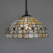 Retro Tiffany Flower Chandelier Fixture Stained Glass Suspension Lamp Light P764