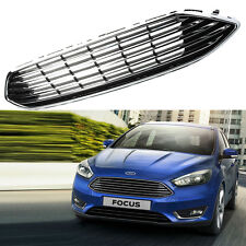 Chrome Front Bumper Center Grille Grill Panel For Ford Focus 2015-2016