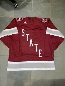 RARE NEW Adidas Mississippi State Bulldogs #19 Hockey Jersey sz LG