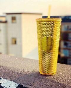 Starbucks 2020 China Christmas Gold Studded 24oz Diamond Cold Water Cup Tumbler