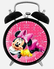 "Disney Minnie Mouse Alarm Desk Clock 3.75"" Home Decor E123 Nice For Gift"