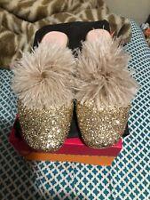 kate spade glitter shoes 8 gold retails 278.00/dust bag