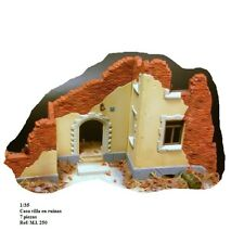 WWII village entrance house villa porch r 1/35 diorama accessories building ruin
