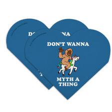 Don't Wanna Myth Thing Unicorn Bigfoot Heart Faux Leather Bookmark Set