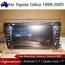 """7"""" Android Quad Core Car DVD GPS head unit player usbFor Toyota Celica 1999-2005"""