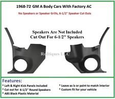 1968-1972 GM A Body Chevelle Kick Panels ---NO Speakers --Factory AC Car