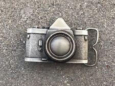 Vintage Camera Brass Belt Buckle - Bergamot 35 mm