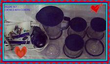Blue NINJA DELUXE EXTRA BOWLS Master Prep Food Processor Mixer Blender Chopper