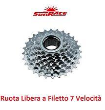 """Ruota Libera 13-28 """"Sunrace"""" a Filetto 7 Vel. per Bici 20-24-26 Tipo Olanda"""