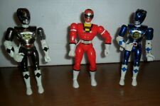"VINTAGE BANDAI 1995/997 POWER RANGERS 8"" ACTION FIGURES LOT OF 3"