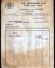 """PARIS (IX°) SCIES VICKING """"Jean MAIRET"""" en 1920"""