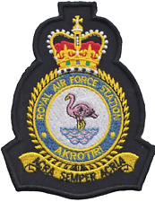 RAF Akrotiri Royal Air Force Mod Crest Embroidered Patch