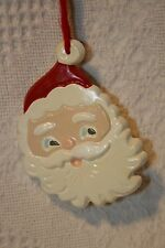 "Christmas Ceramic Ornament Santa Face 4"" tall"