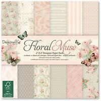 Dovecraft Floral Muse 6x6 Paper Card Sample 12 Sheets Cardmaking Scrapbooking
