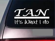 Tan sticker decal E327 wax swim dive tanning bed tropical beach board