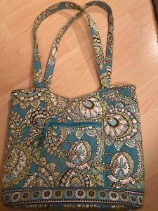 Vera Bradley Peacock Design Retired Print Teal/Green/Brown W/ change purse