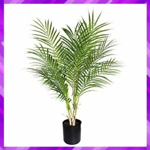 "ARTIFICIAL PLANT Paradise Palm Tree Fake Tropical Decoration 30"" BESAMENATURE"