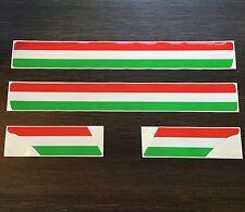 Italian Stripe Kit Sticker Set fits Vespa PX  T5 - Red Green & White Decal ST27