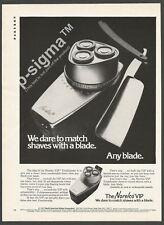 NORELCO VIP electric shaver- 1973 Vintage Print Ad