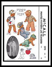 McCall 1070 Sewing Pattern BOY'S Sun Suit Playsuit Romper Vintage Overalls sz~1~