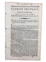 Uzès en 1791 Alès Gard Rouen Perpignan Santé du Roi Louis 16 Autun Révolution
