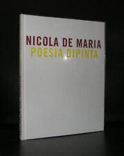 Nicola De Maria # POESIA DIPINTA# numbered ,1998, mint