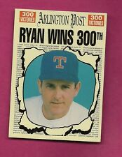 RARE RANGERS NOLAN RYAN 300TH VICTORIES ARLINGTON POST EX-MT CARD (INV# A3075)
