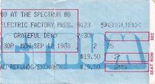 GRATEFUL DEAD TICKET STUB   09-12-1988  THE SPECTRUM
