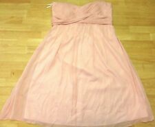 J Crew Silk Pink Ruched Faux Wrap Sweetheart Arabelle Strapless A-line Dress 6