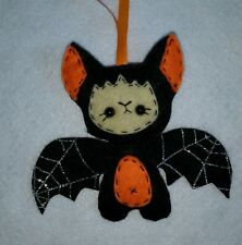 Handmade Halloween decoration ,spooky baby bat ornament  hanging felt decoration