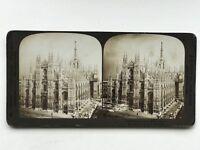 Cattedrale Da Milan Italia Fotografia Stereo Vintage Analogica