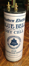 Antique Refillable Western Blue Dry Cell Battery Telephone, Radio, Lantern