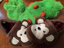 Toddler Boy Sz 5 Monkey and Monster Slippers