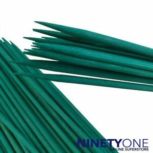 Green Bamboo Plant Support Sticks 30cm Canes Spiky End Floral Stake Gardening Pl