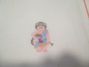 SMALL BOY-PAINTED PONY-HANDPAINTED NEEDLEPOINT CANVAS