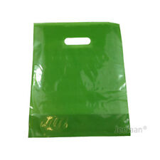 """500 Red Plastic Carrier Bags 15/""""x18/""""+3/"""" Strong Patch Handle Gift Retail"""
