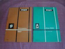 Vintage Pfaff Sewing Machine Exhibit Booklets 1965 & 1967 - Germany