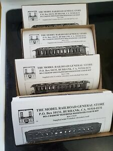 Model Railroad General Store D&RGW Coaches (HOn3)(New)