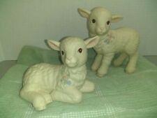 Vtg Ceramic Lambs Figurines Adorable