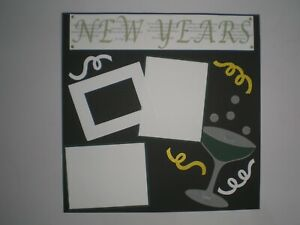 New Years 2 #412 premade scrapbook pages