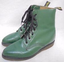 Rare 1970's Vintage Dr. Martens 7 Eye Boots Green Made in England Women's 7