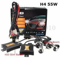 Kit Conversion Bi Xénon H4 12000k 55W HID Slim Ballast Ampoul Hi/Lo Phare DC 12V