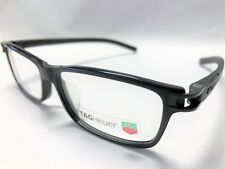 NEW TAG HEUER TRACK S EYEGLASSES TH 7604 007 - 56 BLACK