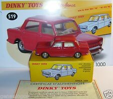 DINKY TOYS ATLAS SIMCA 1000 ROUGE REF 519 1/43 IN BOX