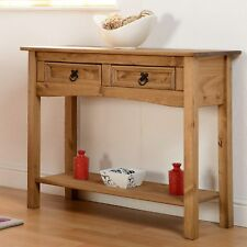 Mexican Pine CORONA 2 Drawer Console Hall Table With Shelf *next Day Delivery