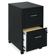 "Lorell SOHO 2-Drawer Mobile File Cabinet, 18"", Black Steel (LLR16872)"