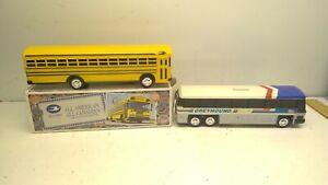 "Blue Bird All American / All Canadian 10"" School Bus Bank & Greyhound Bus Bank"