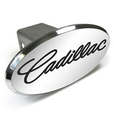Cadillac Engraved Oval Chrome Aluminum Tow Hitch Cover