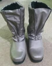 Women's Comfortview All Weather Winter Boots》Plush Faux Fur Lining》Silver》11W